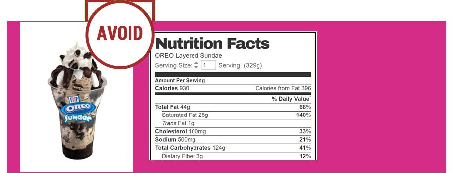 Baskin-Robbins-Oreo-Layered-Sundae transfat